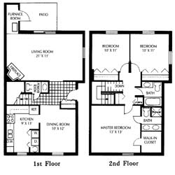 End Unit Floor Plan